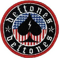 Deftones Iron-On Patch Circle Spade Logo