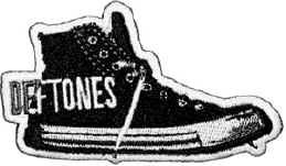 Deftones Iron-On Patch Converse Sneakers Logo