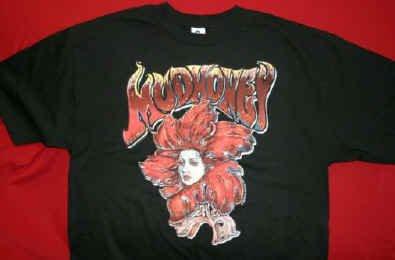Mudhoney T-Shirt Face Flower Black Size Large