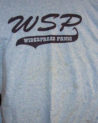Widespread Panic T-Shirt WSP Spring Tour 2001 Blue Size Large