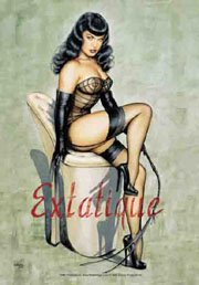 Bettie Page Poster Flag Extatique Tapestry