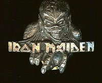 Iron Maiden Metal Lapel Pin Eddie Skull Logo