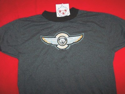 Grateful Dead Ringer T-Shirt Wings Gray Youth Large