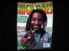 Stephen Marley High Times T-Shirt Black Medium Reggae