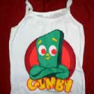Gumby Babydoll Tank Top Shirt White Size Medium New