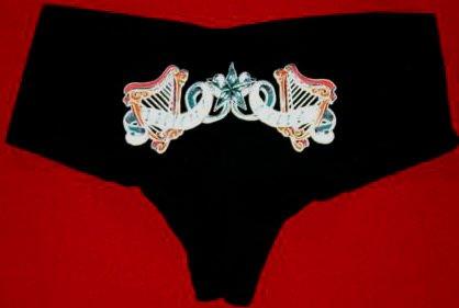 Flogging Molly Hot Shorts Harp Logo Black Size Small