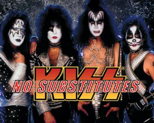 Kiss Vinyl Sticker No Substitutes Group Photo New