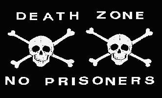 Pirate Death Zone Skull Flag Black 3' x 5' New