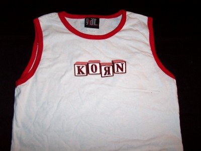 Korn Babydoll Tank Top Shirt Ringer Building Blocks New