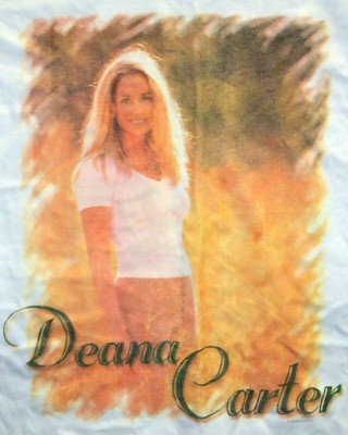 Deana Carter T-Shirt Flower Photo White Size XL New