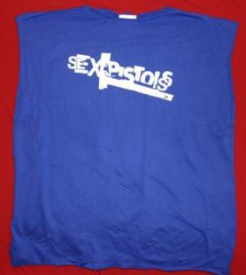 Sex Pistols Box Shirt Blue Size XL Punk New