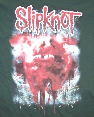 Slipknot Long Sleeve T-Shirt Green Size Medium New