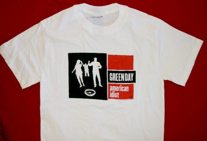 Green Day T-Shirt 2004 Tour White Size XL New