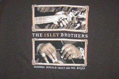 Isley Brothers T-Shirt Guitar Logo Brown Medium New