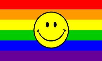 Smiley Face Rainbow Flag 3' x 5' New