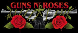 Guns n' Roses Vinyl Sticker Rectangle Logo New