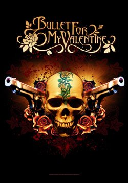 Bullet For My Valentine Poster Flag Pistols Skull Tapestry
