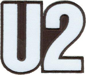 U2 Iron-On Patch White Logo