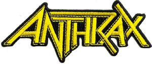 Anthrax Iron-On Patch Yellow Letters Logo