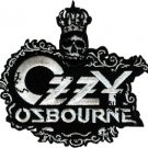 Ozzy Osbourne Iron-On Patch Crown Letters Logo