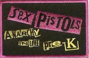 Sex Pistols Iron-On Patch Anarchy In The Pre-K