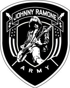 The Ramones Iron-On Patch Johnny Ramone Army