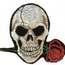 Rose Skull Iron-On Patch