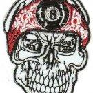 Eight Ball Skull Iron-On Patch