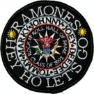 The Ramones Iron-On Patch Hey Ho Let's Go