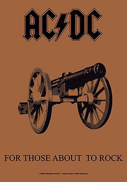 AC/DC Poster Flag For Those About to Rock Tapestry