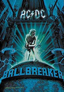 AC/DC Poster Flag Ballbreaker Logo Tapestry Rock Band