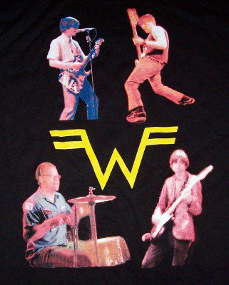 Weezer Long Sleeve T-Shirt Tour 2001 Black Size Large