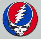 Grateful Dead Vinyl Mini Sticker Circle Steal Your Face