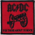 AC/DC Iron-On Patch For Those About To Rock