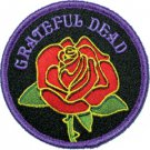 Grateful Dead Iron-On Patch Rose Logo Circle