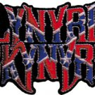 Lynyrd Skynyrd Iron-On Patch Confederate Flag Logo