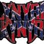 Lynyrd Skynyrd Iron-On Patch Confederate Flag Logo