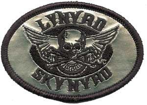 Lynyrd Skynyrd Iron-On Patch Silver Biker Logo