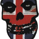 Misfits Iron-On Patch British Flag Skull Logo