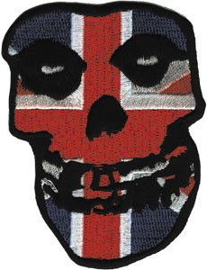 Misfits Iron-On Patch British Flag Skull Logo