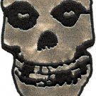 Misfits Iron-On Patch Silver Skull Logo