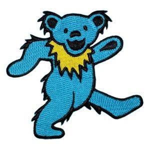 Grateful Dead Iron-On Patch Blue Dancing Bear