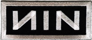 Nine Inch Nails Iron-On Patch NIN White Logo