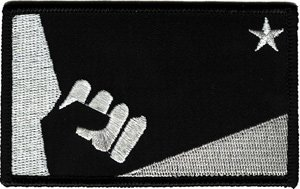 Nine Inch Nails Iron-On Patch Fist Star Logo