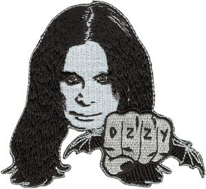 Ozzy Osbourne Iron-On Patch Face Fist Logo