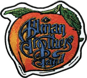 Allman Brothers Iron-On Patch Peach Letters Logo