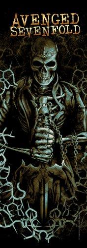 Avenged Sevenfold Fabric Door Poster Skeleton Logo New