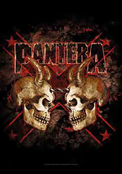 Pantera Poster Flag Double Skulls Tapestry
