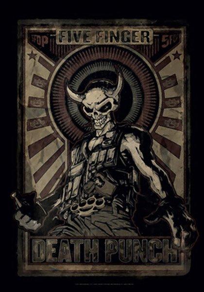 Five Finger Death Punch Poster Flag Mercenary Tapestry New
