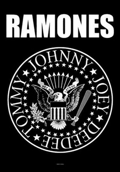 The Ramones Poster Flag Eagle Seal Tapestry